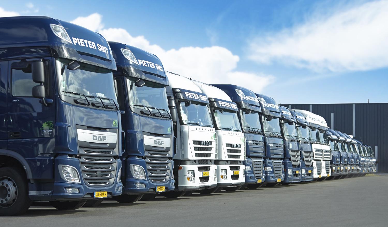 Vrachtwagens van Pieter Smit