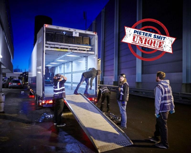 Mega double deck box trailer-unique