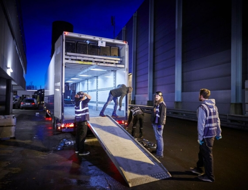 Mega double deck box trailer